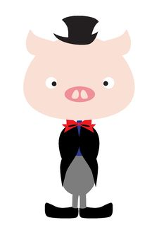 Free Pig Wearing Tux Royalty Free Stock Photos - 17199708