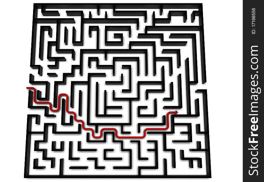 A maze of black walls