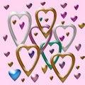 Free Valentine Confetti Royalty Free Stock Photo - 1728285