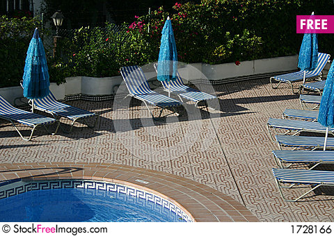 Swimming pool area Stock Photo