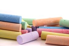Free Loads Of Colored Chalks 2 Stock Image - 1720551