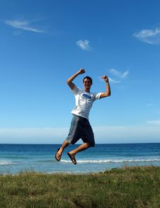 Free Jump For Joy Stock Image - 1722011