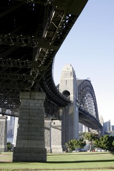 Under The Sydney Harbour Bridge Royalty Free Stock Photography