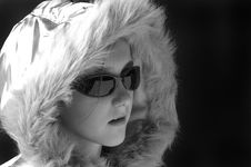 Free Cool Winter Wear Black & White Royalty Free Stock Photography - 1723717