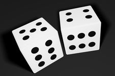 Free Lucky Dice Royalty Free Stock Photography - 1723967