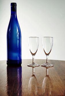 Free Blue Wine Bottle Stock Photos - 1724083