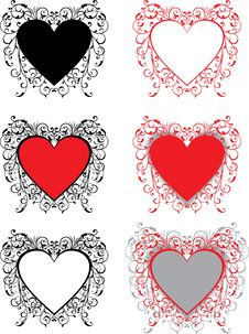 Free Valentine Background, Hearts, Vector Stock Image - 1725851