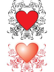 Free Valentine Background, Hearts, Vector Royalty Free Stock Image - 1725856