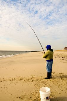 Free Fisherman On The Beach-3 Stock Photo - 1726360