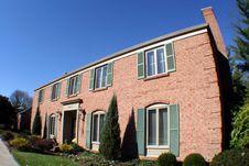 Free Large Two Story Brick House Stock Photo - 1726500