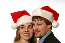 Free Beautiful Young Christmas Couple Stock Image - 1726781