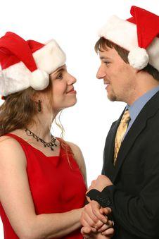 Free Happy Christmas Couple Royalty Free Stock Image - 1726816