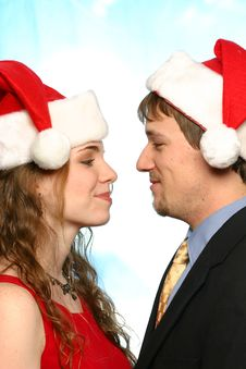 Free Beautiful Young Christmas Couple Royalty Free Stock Images - 1726819