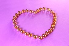 Free Glisten Heart Balls Royalty Free Stock Photography - 1726877