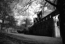 Kirkstall Abbey And Grounds Stock Image