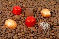 Free Chocolates Coffee Royalty Free Stock Photography - 1728957