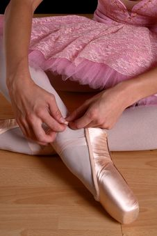 Free Fasten Ballet Shoes Stock Photography - 1729082