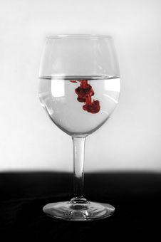 Free Wine Glass Red Drops Stock Photography - 1729332