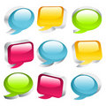 Free 3D Coloful Speech Bubbles Royalty Free Stock Image - 17201446