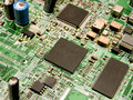 Free Microchips On A Circuit Board Royalty Free Stock Photography - 17202147