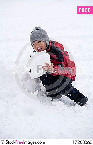 Free Going To Eat Snow. Stock Photos - 17208063