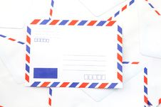 Free Air Mail Envelope Background Royalty Free Stock Photo - 17200185