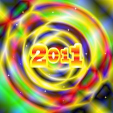 Colorful Background 2011 Royalty Free Stock Images