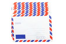 Heap Of Isolated Air Mail Envelope Stock Image