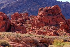 Free Red Rock Formation Royalty Free Stock Image - 17201016