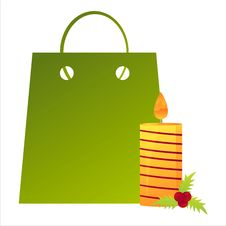 Free Christmas Shopping Bag Royalty Free Stock Photography - 17201377