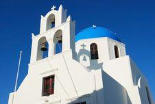Free Blue Church At Santorini Stock Images - 17201584