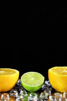 Free Two Orange And Lime Royalty Free Stock Photos - 17201668