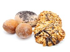 Free Fried Doughnuts, Cookies Royalty Free Stock Photography - 17201927