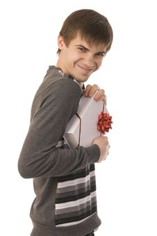 Free Handsome Smiley Man Holding Gift Stock Photos - 17202113