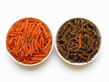 Chili And Garlic Macaroni Stock Photos