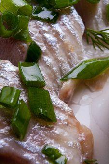 Sardine And Spring Onions Royalty Free Stock Photos