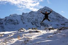 Free Man In The High Mountain Stock Photos - 17203043