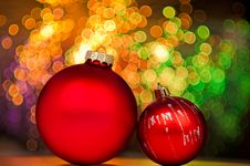 Free Red Christmas Baubles Stock Images - 17203574