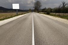 Free Empty Road Through Fields Stock Image - 17204111