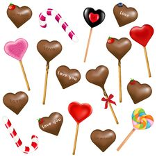 Free Lollipops And Sweets. Vector Royalty Free Stock Images - 17204139