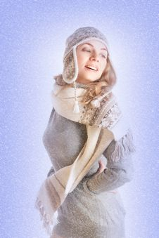 Free Woman In Winter Clothes Stock Photos - 17204163