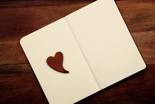 Free Blank Notebook With Heart Stock Images - 17204244