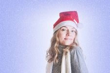 Free Woman In Santa Hat Stock Photos - 17204303