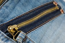 Free Zipper On Jeans Royalty Free Stock Images - 17204339