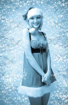 Free Sexy Girl In Santa Claus Clothes Stock Photos - 17204343