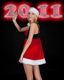 Free Christmas Girl Portrait Royalty Free Stock Photography - 17204357