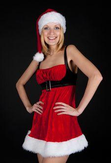 Free Christmas Girl Royalty Free Stock Photos - 17204358
