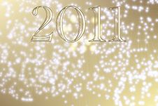 New Year 2011 Fireworks Stock Images