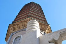 Free Buddhist Pagoda In Perspective Royalty Free Stock Image - 17204516