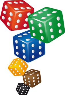 Free Dice Six Points Stock Photos - 17204573